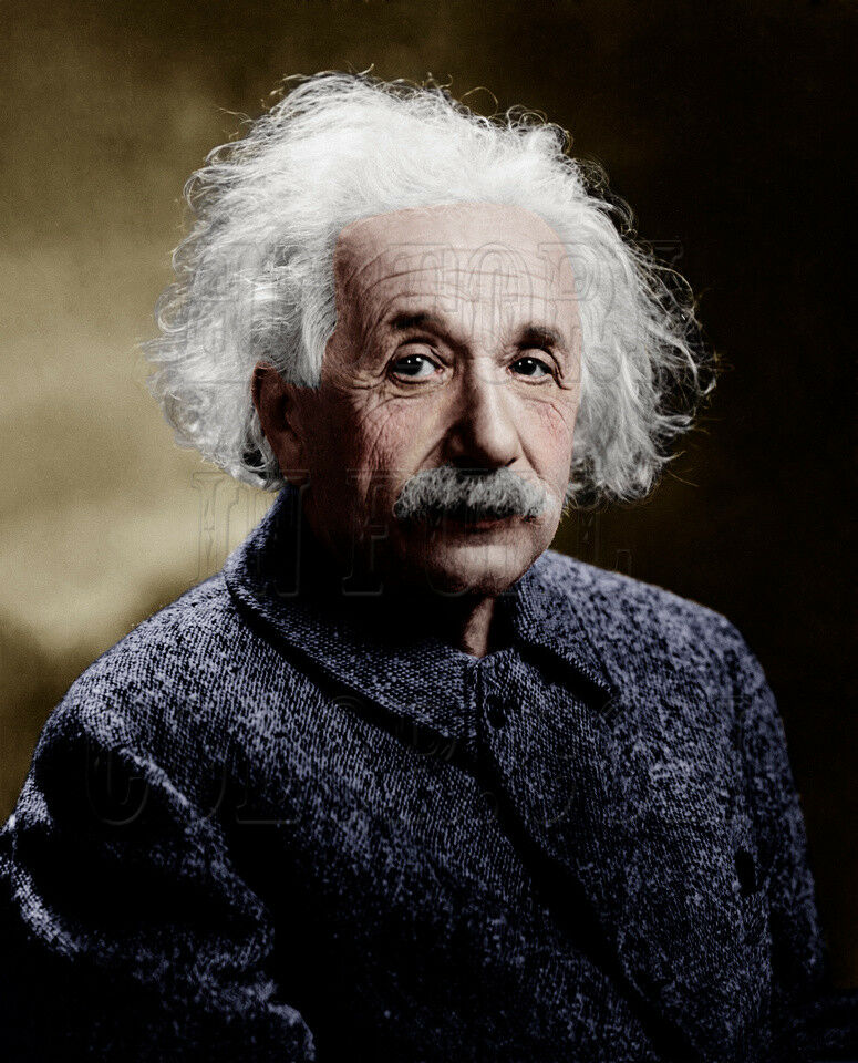 Albert Einstein - 1947 Farbe photo - 3b46036