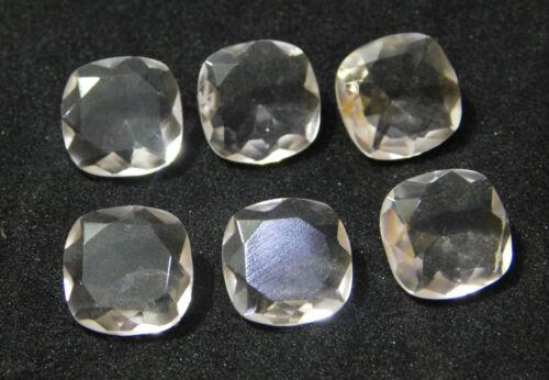 Crystal Lab Quartz Cushion Shape Loose Cut Stone 6mm-20mm 6 Piece #CS-24