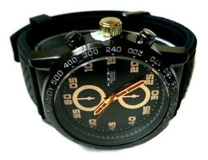 Mens Fashion Watch Milano MC46941, Black Silicone Band Water Resistant 1 ATM