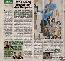 Coupure de presse Clipping 1992 Yves Lecocq  (1 page 1/2) les guignols