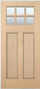 Exterior entry craftsman flat panel hemlock solid stain for Flat solid wood door