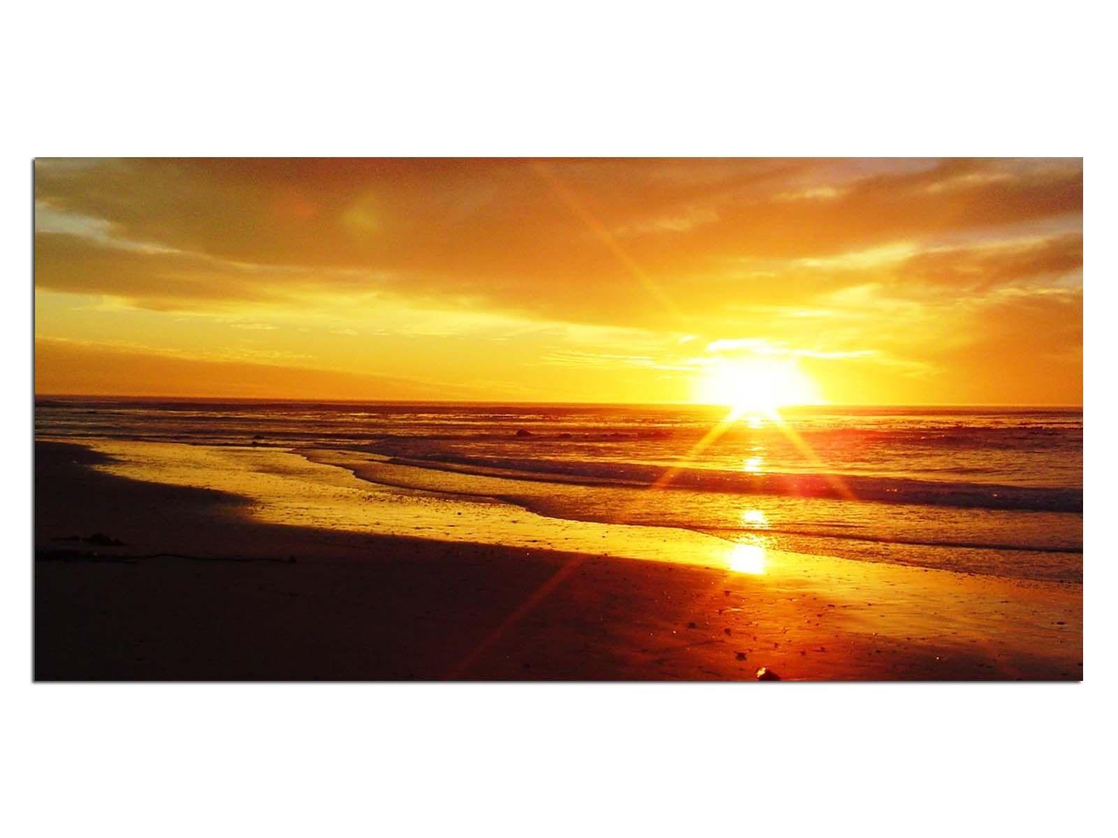 Deco De Vidrio Imagen eg4100500515 kapcity Beach naranja Tamaño 39,37  X 19,68  Hd pri