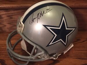 c98acbe6f42 Image is loading Roger-Staubach-Signed-Full-Size-Helmet-Authentic-Proline-