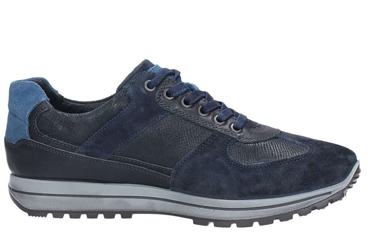 Igi & Co 67250 Blau Herren Leder Schuhe Turnschuhe Casual Suede Interactive