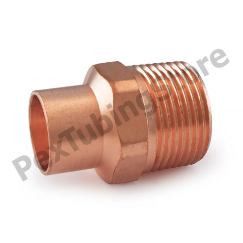 "10 3//4/"" C x 1/"" Male NPT Threaded Copper Adapters"