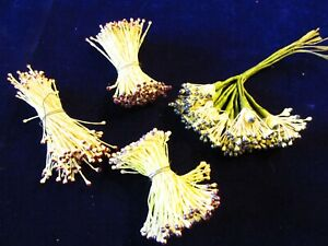 Vintage Millinery Flower Stamen Collection Yellow Brown Black H3100