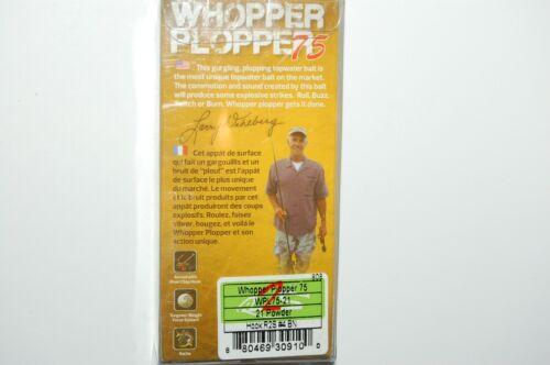 "river2sea bass topwater larry dahlberg whopper plopper 75 white powder 3/"" 3//5oz"