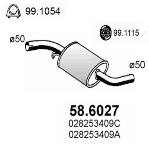 VW Mittelschalldämpfer 58.6027