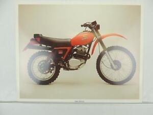 Image Is Loading Vintage 1980 Honda Xr250 Dealer Brochure Specifications Sheet