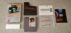 Metroid Nintendo NES Game Complete CIB Five 5 Screw w/ Box Poster & Manual Lot !