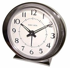 Westclox Baby Ben Quartz Battery Movement Alarm Clock, Analog Display, Silver