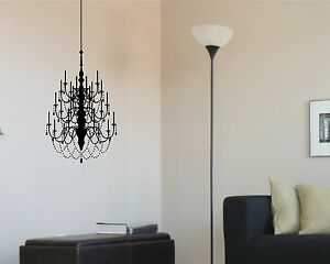 Chandelier Wall Decal Large Removable Sticker Decor Mural