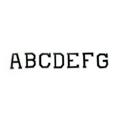 26Pcs Alphabet Letter DIY Embroidery Clothes Patches Sew or Iron On Appliques ..