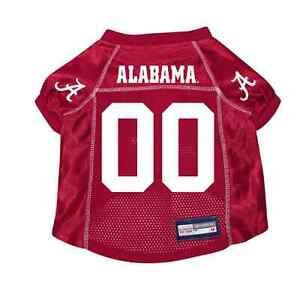 NEW-ALABAMA-CRIMSON-TIDE-PET-DOG-PREMIUM-JERSEY-w-NAME-TAG-ALL-SIZES-LICENSED