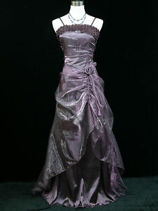 Cherlone-Satin-Purple-Long-Rose-Prom-Ball-Wedding-Evening-Gown-Bridesmaid-Dress