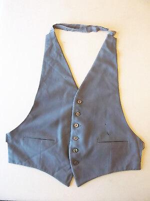 Da Uomo Gilet Canotta Grigio Taglia 38 Vintage Costume-mostra Il Titolo Originale Fornitura Sufficiente