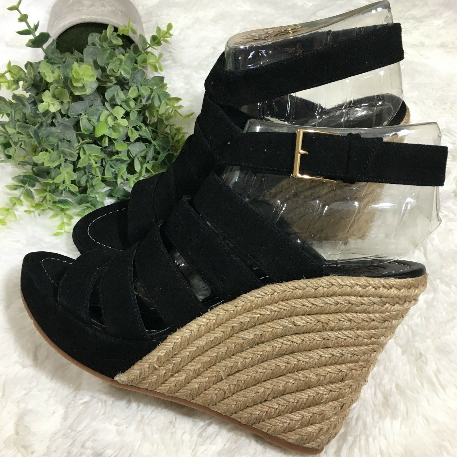 Tory Burch Bailey Multi Steal Wedge Espadrille Sandals Size 10.5 Retail  358