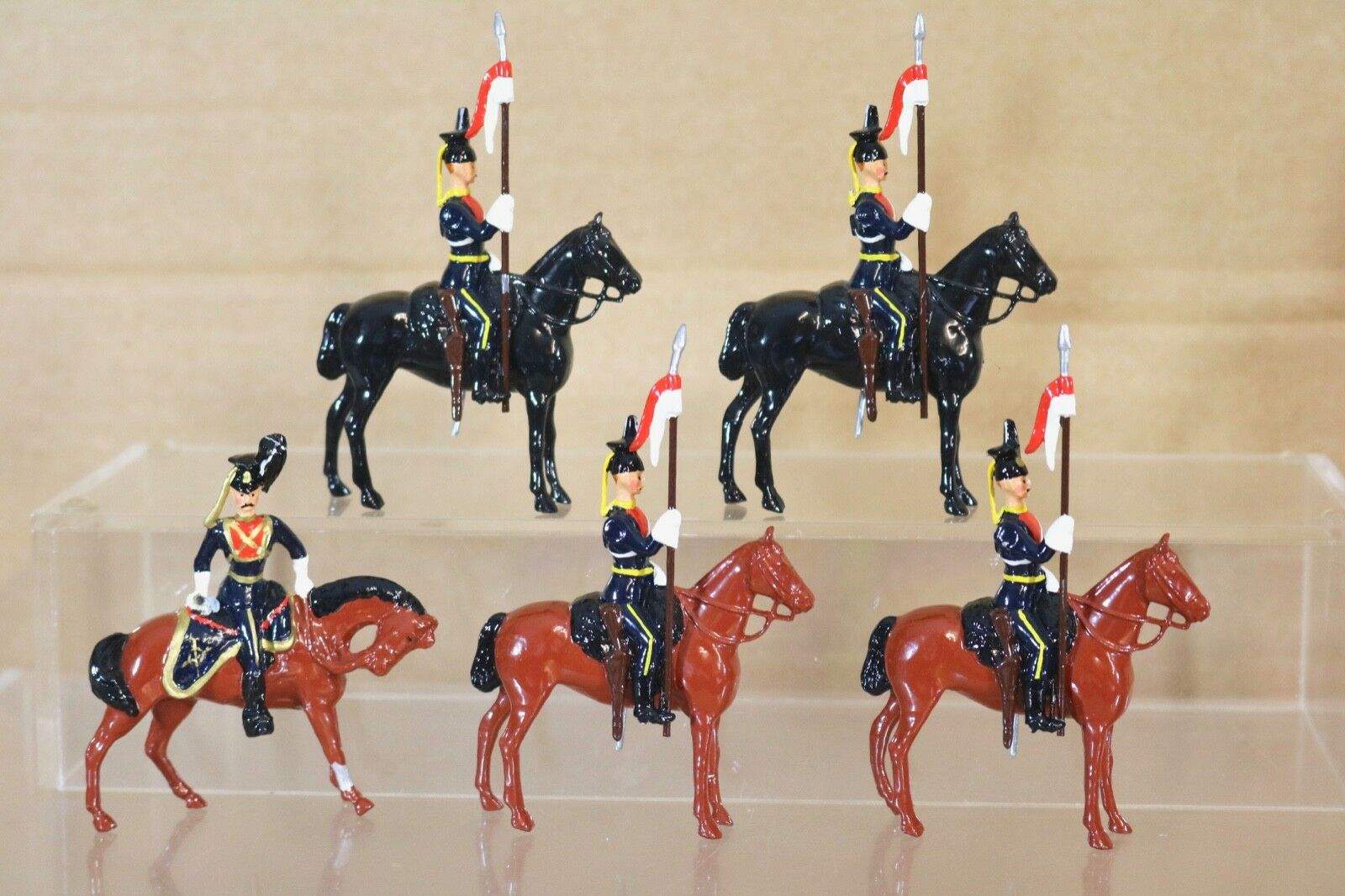 Britains Re Fundido 5X Británico 5th Lanceros On Parade Nq