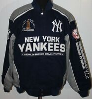 York Yankees 27 Time World Series Champions Cotton Twill Jacket - Xxl