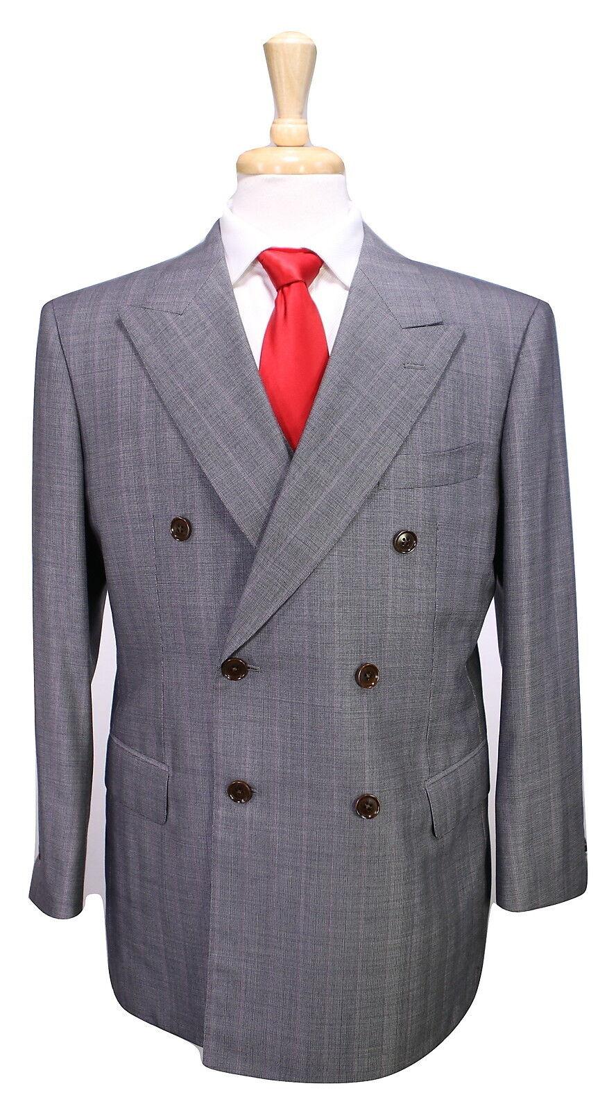 SARTORIA MAXSY Japan Bespoke grau Striped Zegna 15 Milmil 15 3-Pc DB Suit 40S