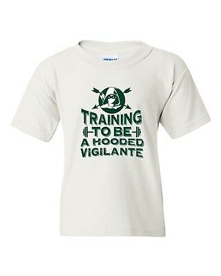 Training To Be A Hooded Vigilante Arrow Comic TV Series DT Youth Kid T-Shirt Tee