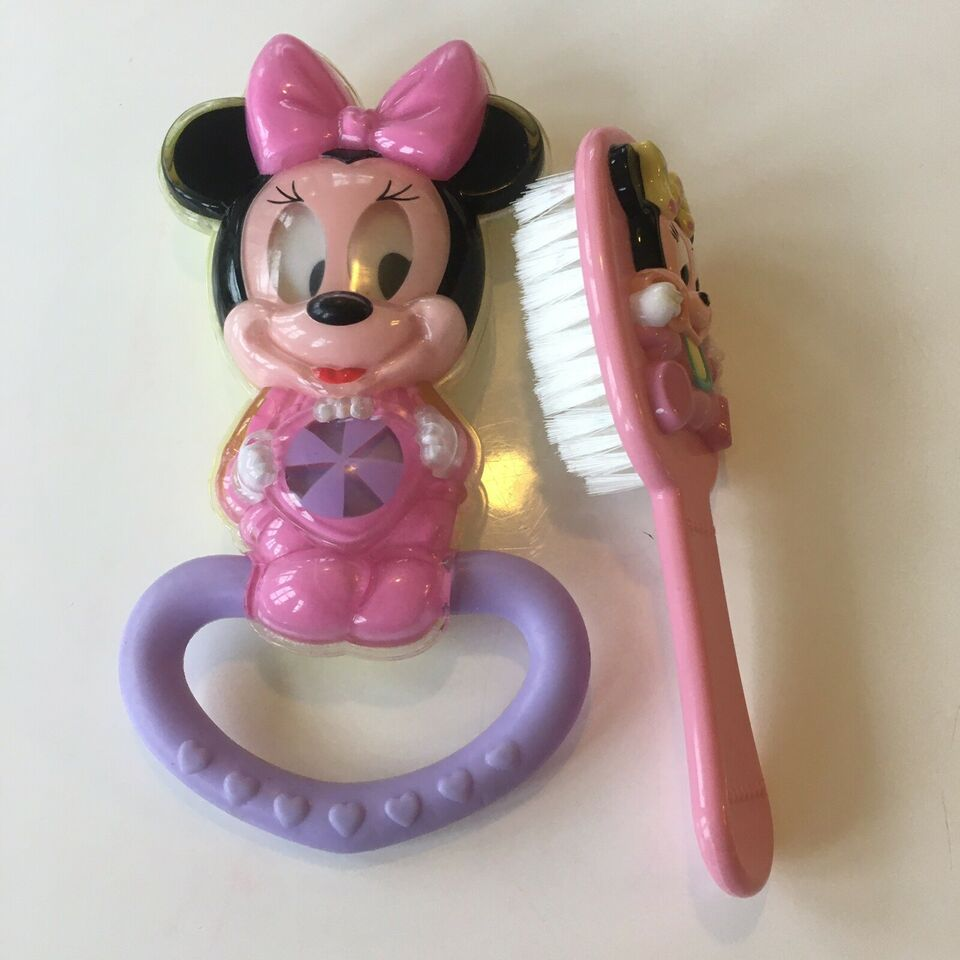 Baby Minnie rangle og børste, Disney, rangle