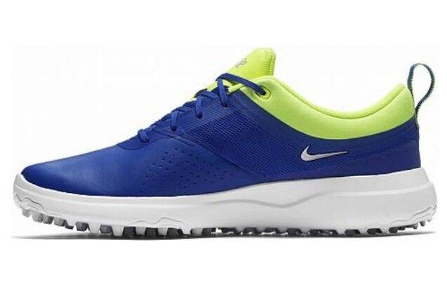 Nike Akamai Golf Shoes Size 7.5 Blue Metallic Silver 818732 401 Womens  7922f8500