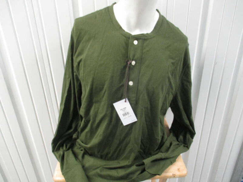 Jack Spades New York Hayes Henley 2xl Button Green Long Sleeve Shirt New W/ Tags Special Buy