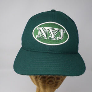 New York Jets New Era 59 Fifty Fitted Hat Cap Size 6 7 8 Made in USA ... 45b73b3f7