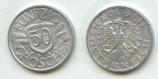 G8122 - Österreich 50 Groschen 1947 KM#2870 Erhaltung 2. Republik 1945-2001