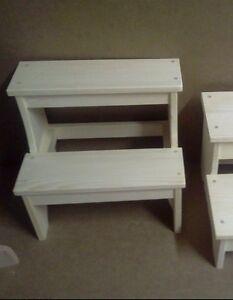 Brilliant Details About Wooden Narrow 2 Step Plain Stool Childs Bench Unfinished Pine Wood Boy Girls Uwap Interior Chair Design Uwaporg