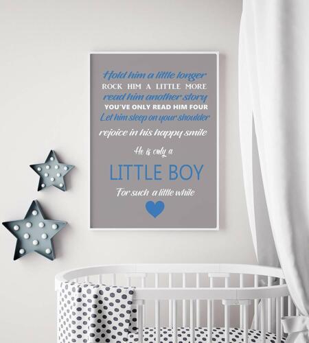 Hold Him//Her A4 A3 Nursery Wall Decor Print Baby Shower Gift Boy Girl