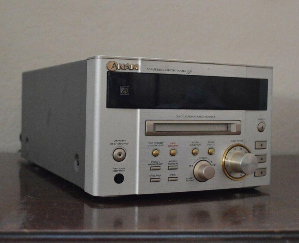 Anam Minidisc Player Deck AMD-38 South Korea Recorder Type C Plug