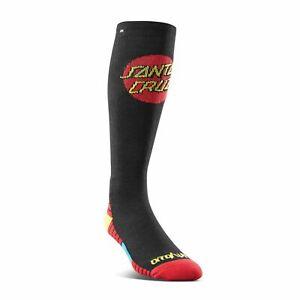 Thirtytwo Mens Santa Cruz Socks Black