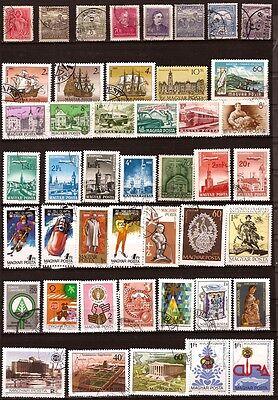 89t5 Ungarn Packung 45 Briefmarken Entwertet Themen Verschiedene Waren Jeder Beschreibung Sind VerfüGbar Vorne 1990