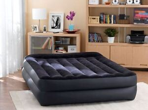 Intex Queen Inflatable Air Bed With Electric Pump Double Airbed