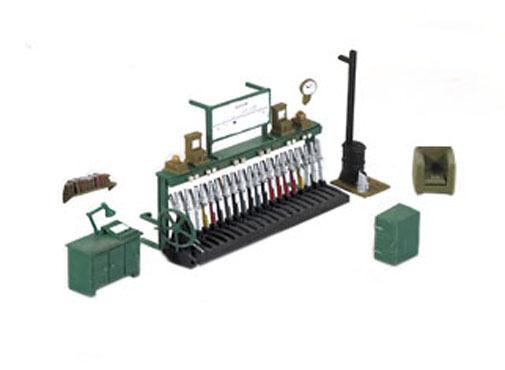Ratio 553 - Railway Signal Box Interior 1/76 Scale=00 Gauge Plastic Kit 1st Post