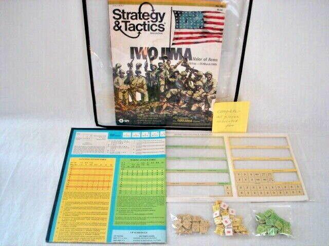 Estrategia y tácticas revista  92 Juego Completo SPI estrategia Iwo Jima Militar Vintage