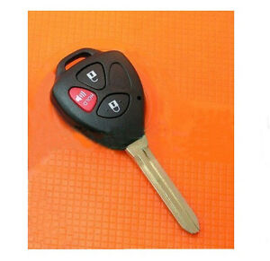 New Uncut Blade Blank Key Shell Case Remote Fob for Toyota Scion 3 Buttons