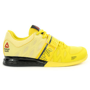 Reebok-Women-s-Crossfit-Lifter-Plus-2-0-Yellow-Yellow-Black-Shoes-V72383-NEW