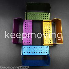 Aluminium Dental Bur Burs Holder Block Disinfection Box Autoclave 30 Holes Fg Ra