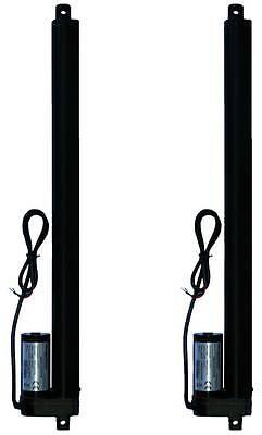 """2 pcs Two Piece 16"""" 16 Inch Linear Actuator 225 Lb Pound Lift 12V Volt DC"""