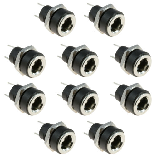 10 x 2.1 mm x 5.5 mm Rond Panneau Châssis Mount Female Socket DC Connecteur Jack Plug