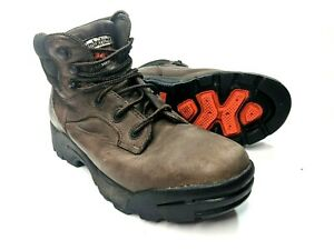 Guiño moco saltar  Timberland Pro Series Steel Toe Work Boots ANSI Z41 PT99 Brown Leather Mens  7.5 | eBay
