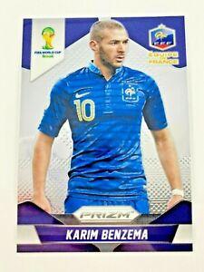Panini Prizm WC 2014 parallèle WAVE PRIZM BASE CARD Nº 82 Karim Benzema