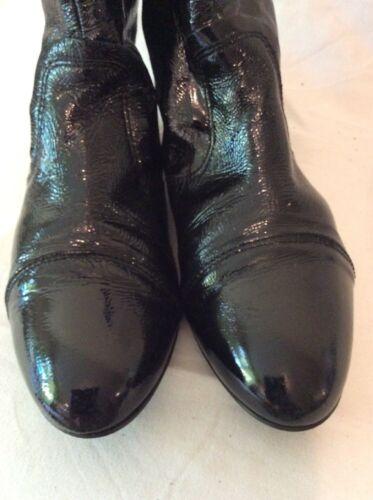 Jane Shilton Noir Cheville Bottes en cuir taille 38