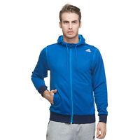 Mens New Adidas Hooded Sweatshirt, Hoodie, Hoodie, Jumper, Pullover Top - Blue