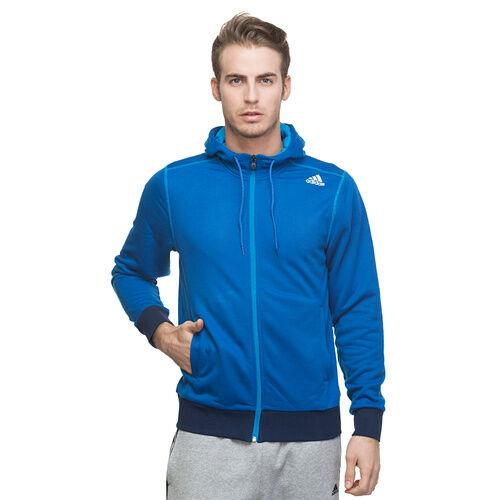 Jumper Mens New Adidas Hooded Sweatshirt Blue Hoodie Pullover Top Hoodie