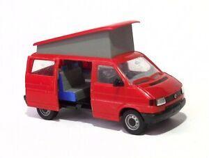 H0  1:87 Modell - Umbau / Gesupert - VW T4 - California Schiebetür offen Rot