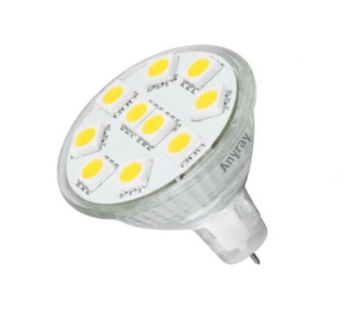 Anyray LED Bulb MR11 Blue Color Flood Light GU4 Base 12V-30Volts lamp